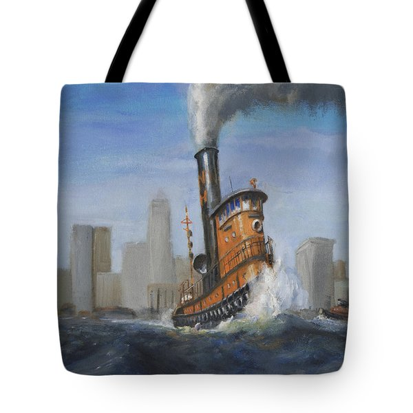 A Great Day For Tugs Tote Bag by Christopher Jenkins