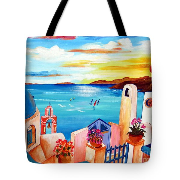 A Greek Seaview Tote Bag