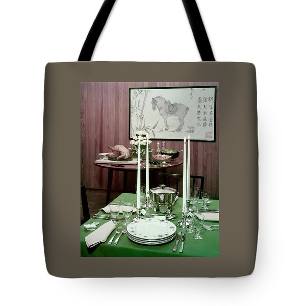 A Green Table Tote Bag