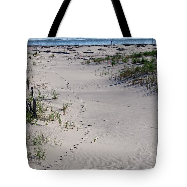 A Gull's Walk To The Ocean Tote Bag