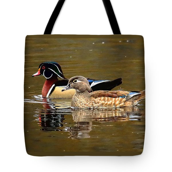 Tote Bag featuring the photograph A Handsome Pair by Dale Kauzlaric