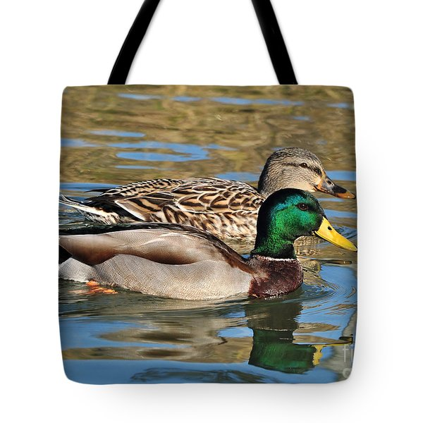 Tote Bag featuring the photograph A Handsome Pair by Kathy Baccari