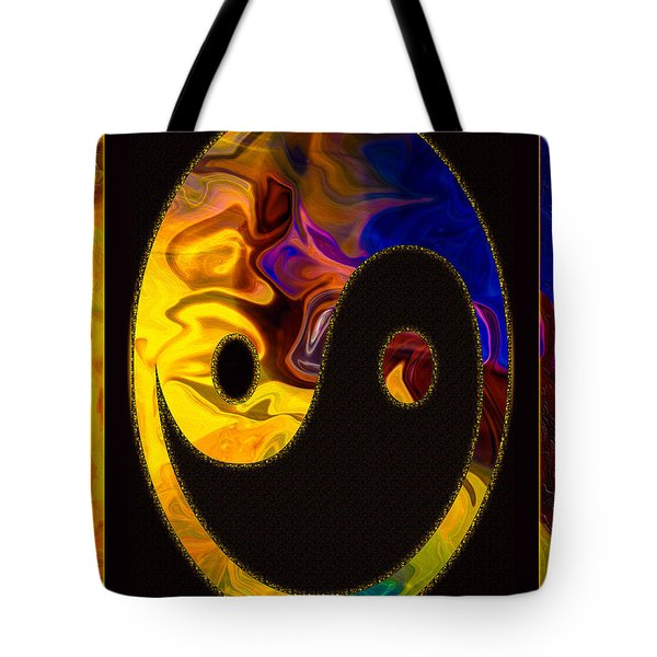 A Happy Balance Of Energies Abstract Healing Art Tote Bag
