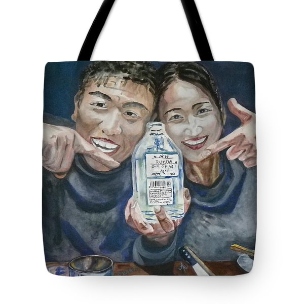 Tote Bag featuring the painting A Happy Birthday by Anna Ruzsan
