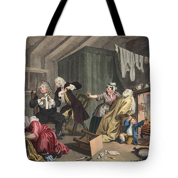 A Harlots Progress, Plate V Tote Bag by William Hogarth