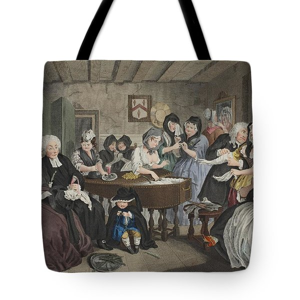 A Harlots Progress, Plate Vi Tote Bag by William Hogarth