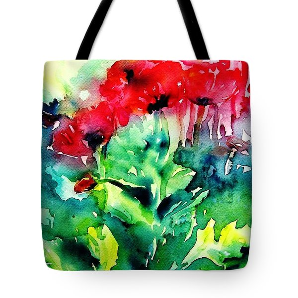A Haze Of Poppies Tote Bag