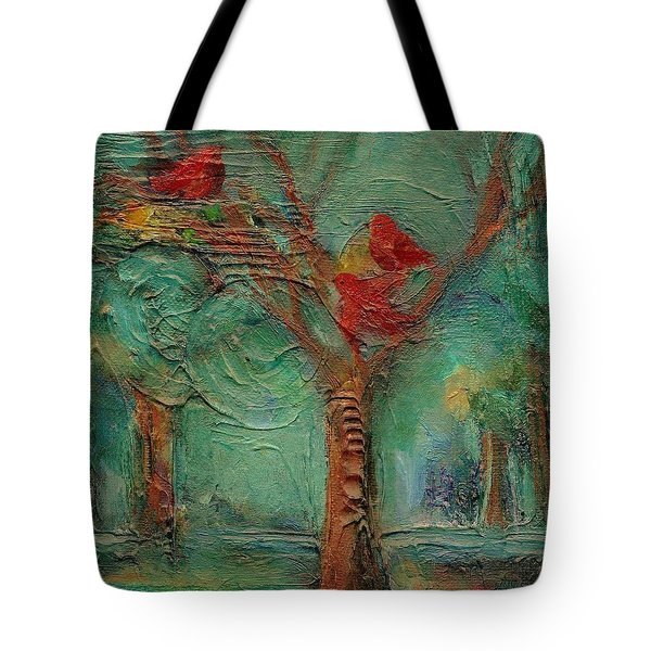 A Home In The Woods Tote Bag by Mary Wolf