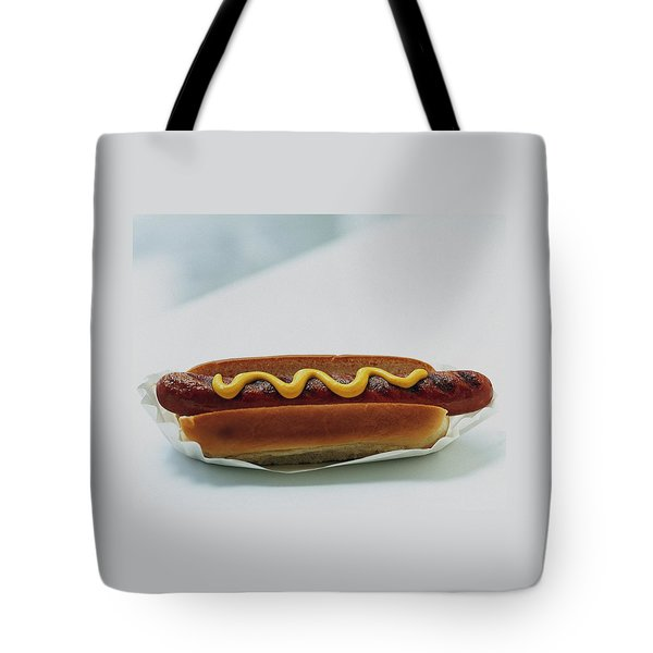 A Hot Dog With Mustard Tote Bag