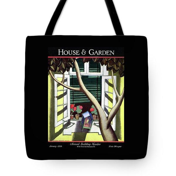 A House And Garden Cover Of A Birdcage Tote Bag
