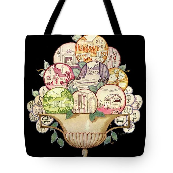 A House And Garden Cover Of A Fruit Bowl Tote Bag
