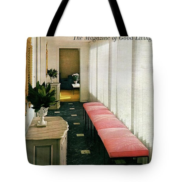 A House And Garden Cover Of A Hallway Tote Bag