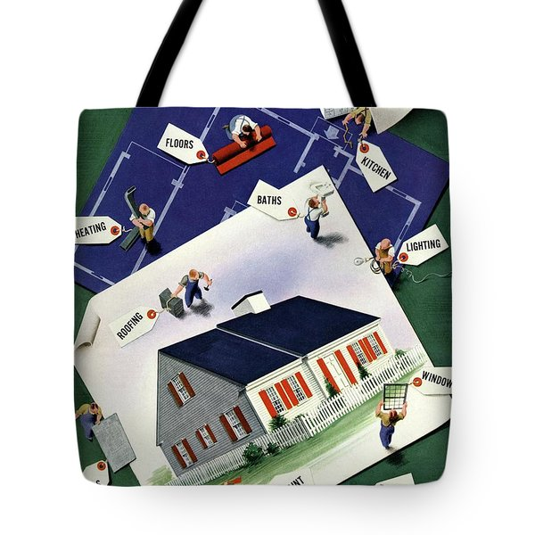 A House And Garden Cover Of A House Tote Bag