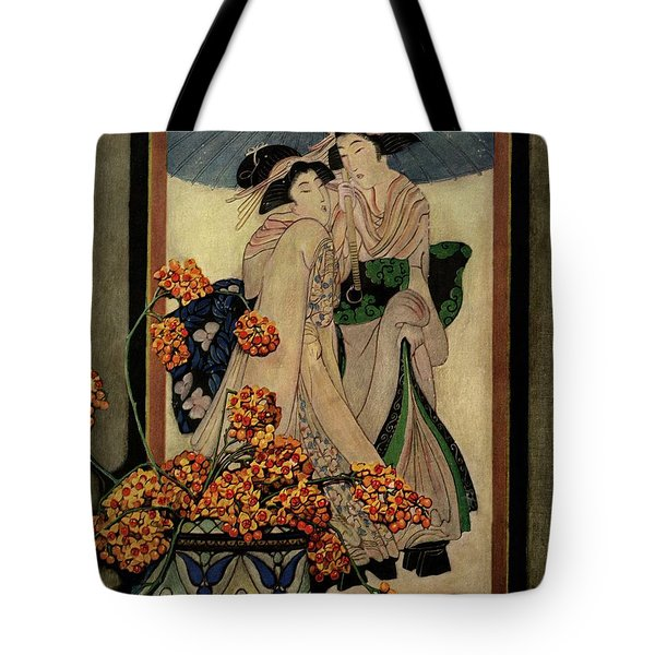 A House And Garden Cover Of A Japanese Print Tote Bag