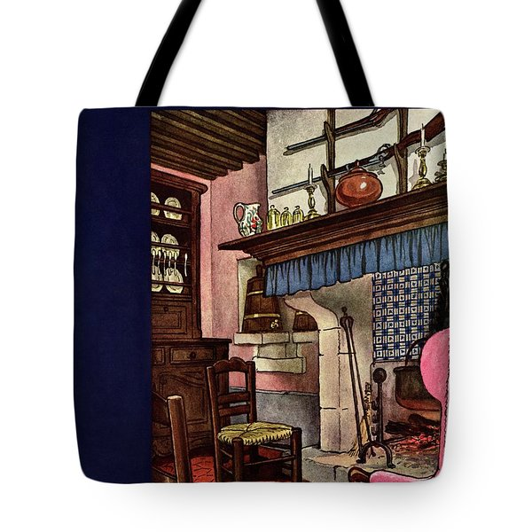 A House And Garden Cover Of A Kitchen Tote Bag