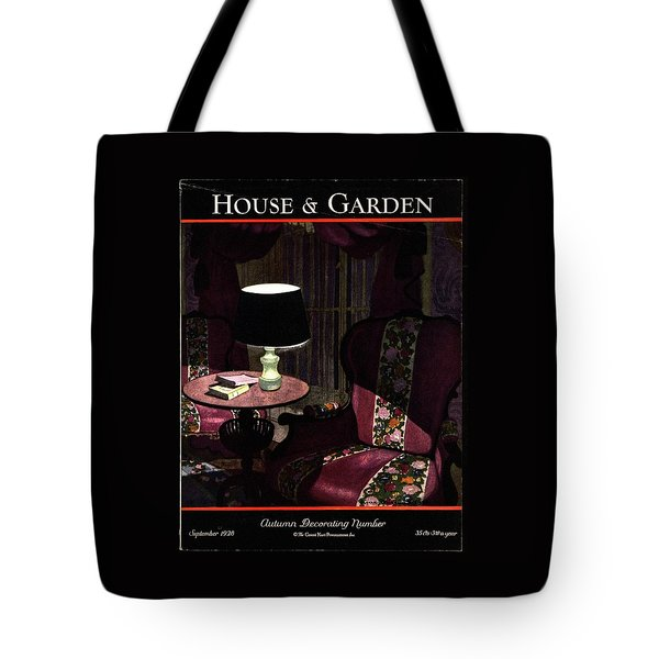 A House And Garden Cover Of A Lamp By An Armchair Tote Bag