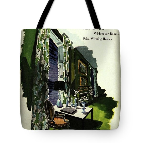 A House And Garden Cover Of A Living Room Tote Bag