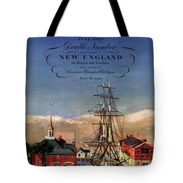 A House And Garden Cover Of A Model Ship Tote Bag