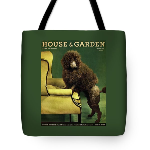 A House And Garden Cover Of A Poodle Tote Bag