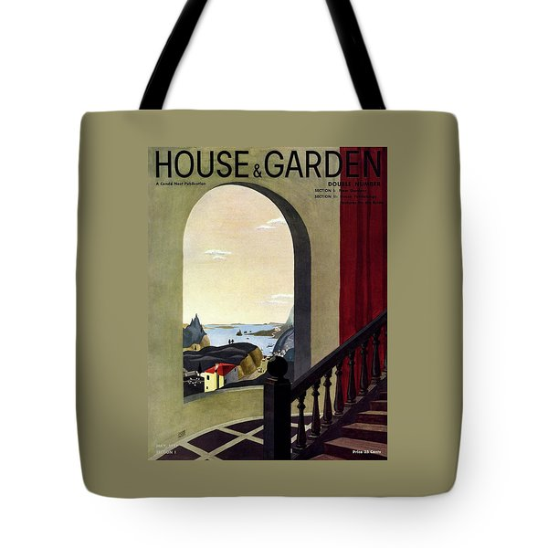A House And Garden Cover Of A Seaside Village Tote Bag