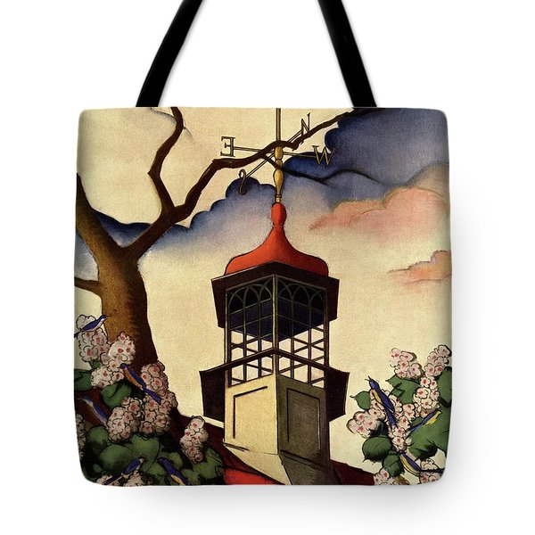 A House And Garden Cover Of A Weathervane Tote Bag