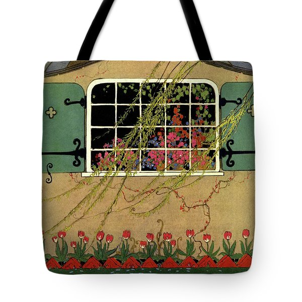 A House And Garden Cover Of A Window Tote Bag