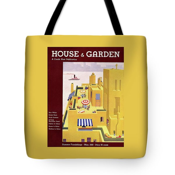 A House And Garden Cover Of An Apartment Building Tote Bag