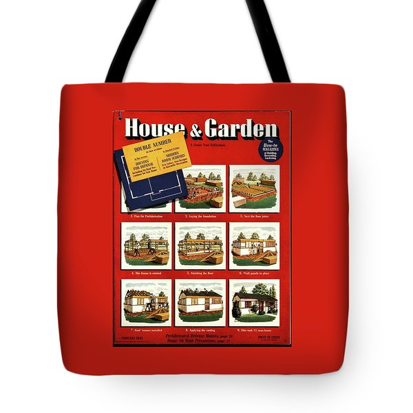 A House And Garden Cover Of Construction Stages Tote Bag