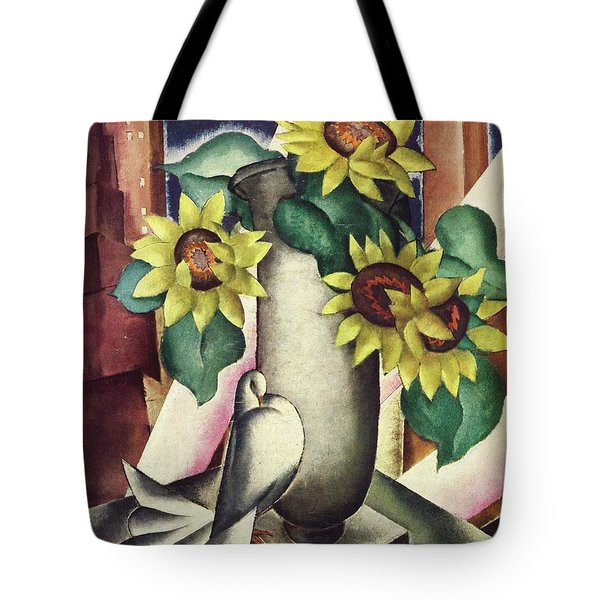 A House And Garden Cover Of Flowers And A Dove Tote Bag