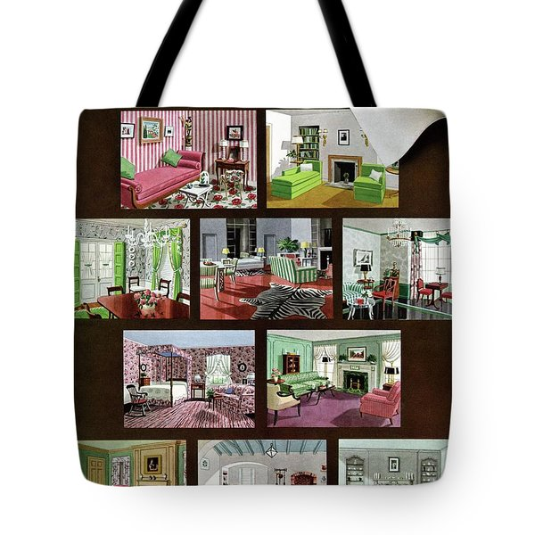 A House And Garden Cover Of Interior Design Tote Bag