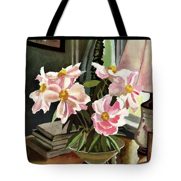 A House And Garden Cover Of Rhododendrons Tote Bag