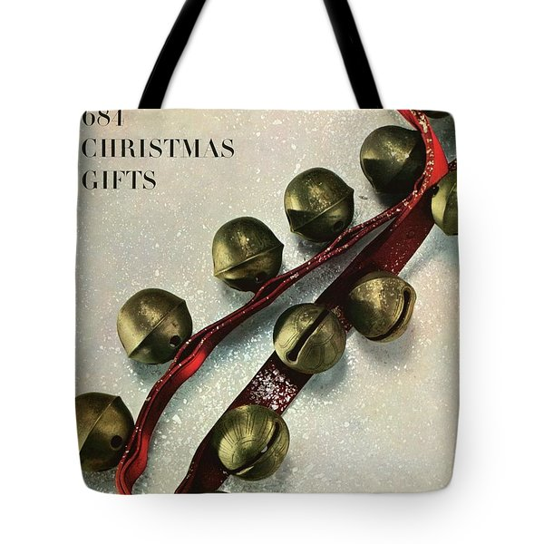 A House And Garden Cover Of Sleigh Bells Tote Bag