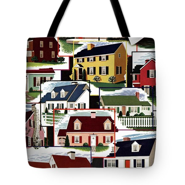 A House And Garden Cover Of Suburban Houses Tote Bag