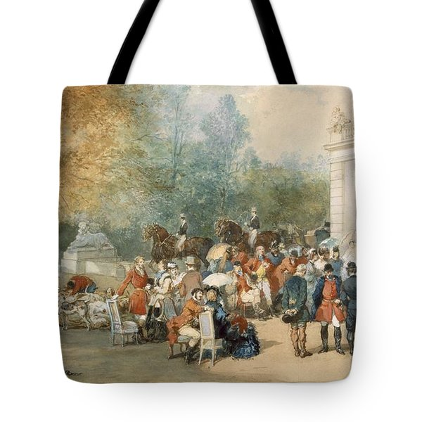 A Hunting Breakfast In England, 1870 Tote Bag by Eugene-Louis Lami