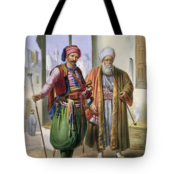 A Janissary And A Merchant In Cairo Tote Bag