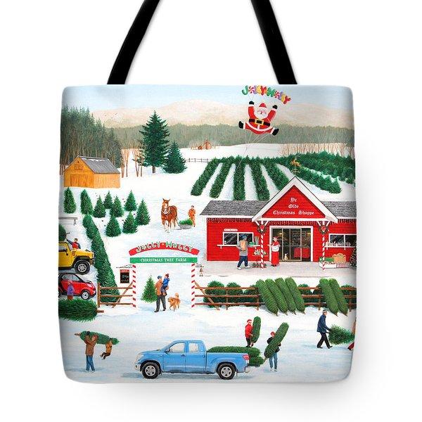 A Jolly Holly Holiday Tote Bag