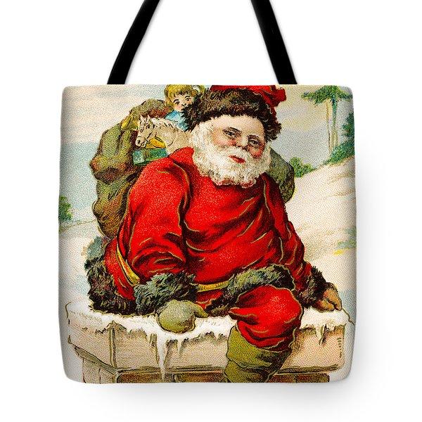 A Joyful Christmas Tote Bag by Vintage Christmas Card