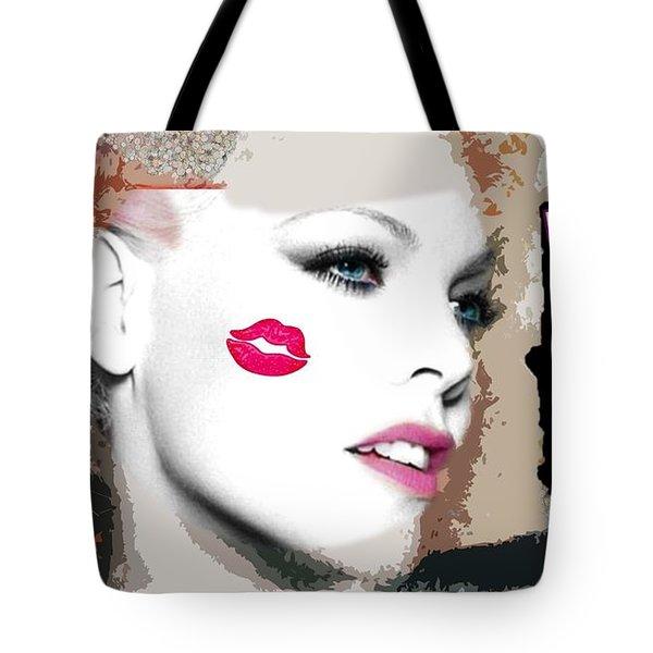 A Kiss On The Cheek Tote Bag