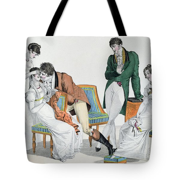 A Kissing Game Tote Bag by French School