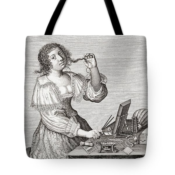 A Lady At Her Toilette, After A 17th Century Engraving By Le Blond.  From Illustrierte Tote Bag