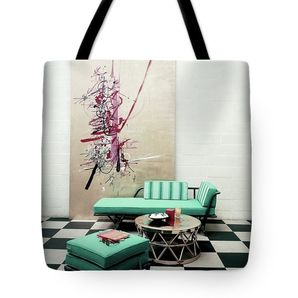 A Lanai Room With Ficks Reed Co Furniture Tote Bag