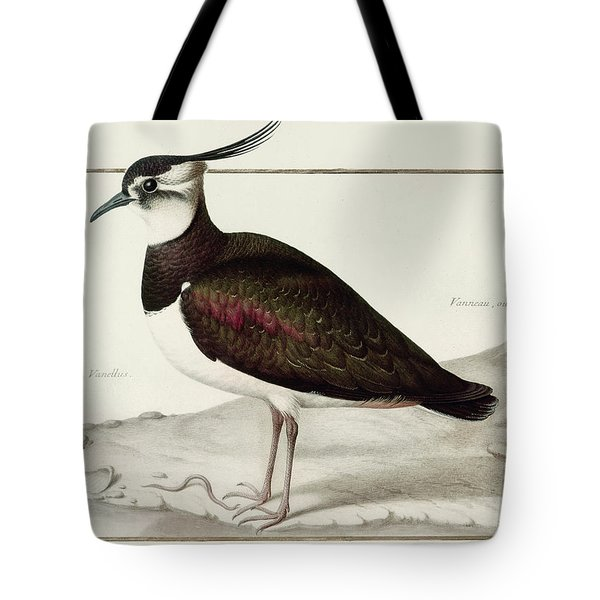 A Lapwing Tote Bag by Nicolas Robert