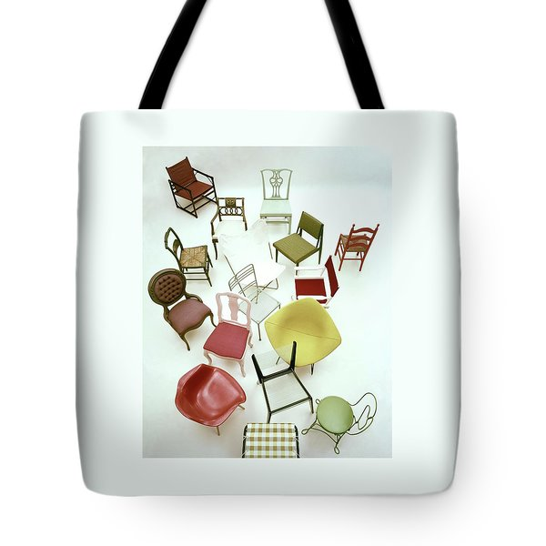 A Large Group Of Chairs Tote Bag