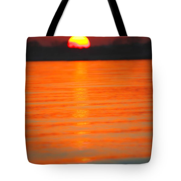A Last Sunset Tote Bag by Karol Livote