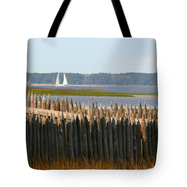 Tote Bag featuring the photograph A Lazy Morning Along The Mighty Cape Fear River by Phil Mancuso