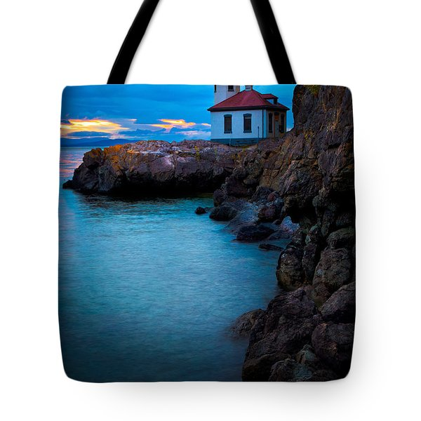 A Light In The Darkness Tote Bag by Inge Johnsson