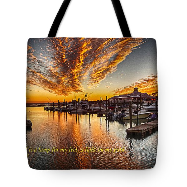 A Light On My Path Tote Bag