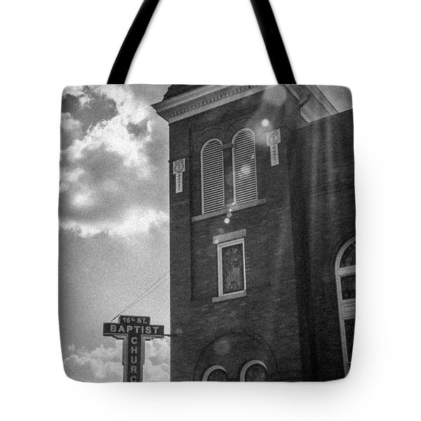 A Light Shines Down Tote Bag