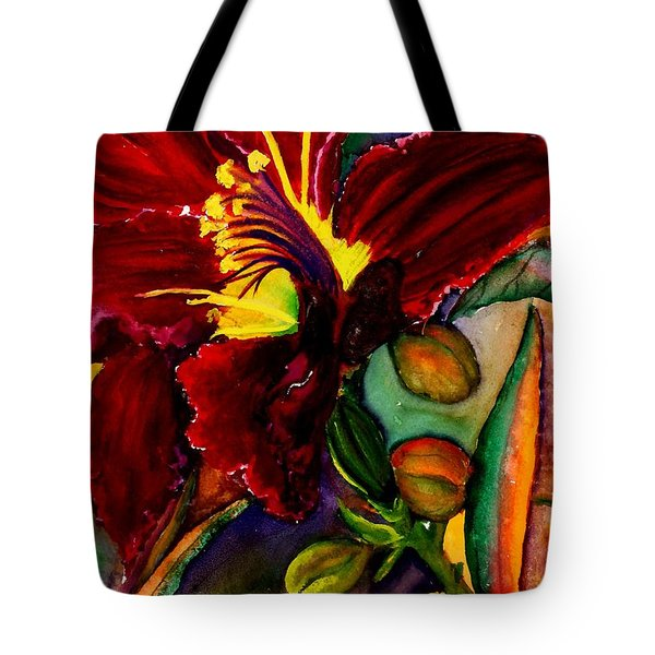 A Lily A Day Tote Bag by Lil Taylor