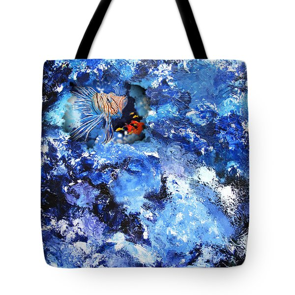 A Lion Out Of The Coral Tote Bag